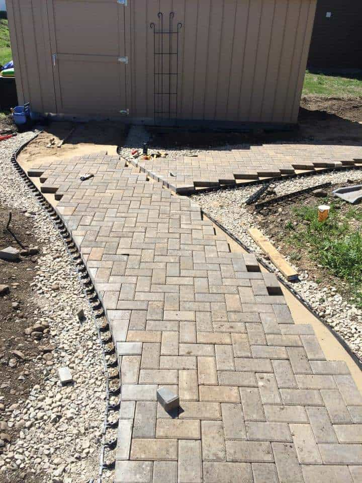 four-seasons-excavating-hardscape-path-shed