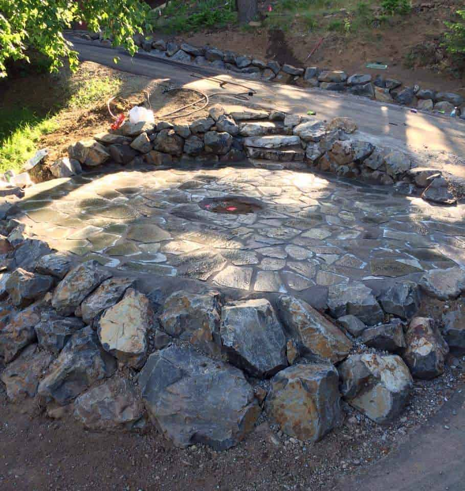 Flagstone fire pits