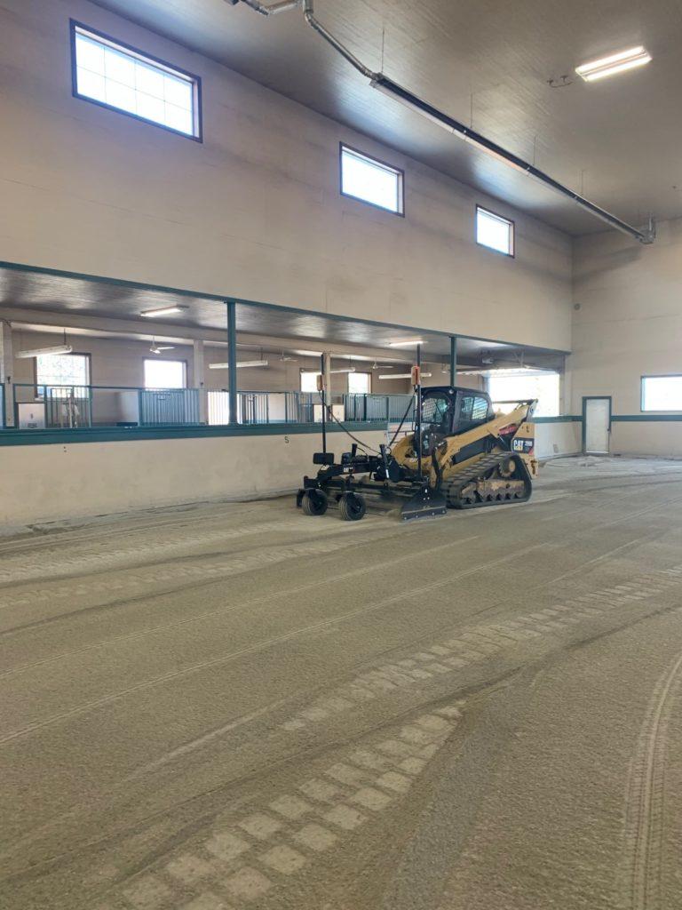 Laser Grading Indoor Arena